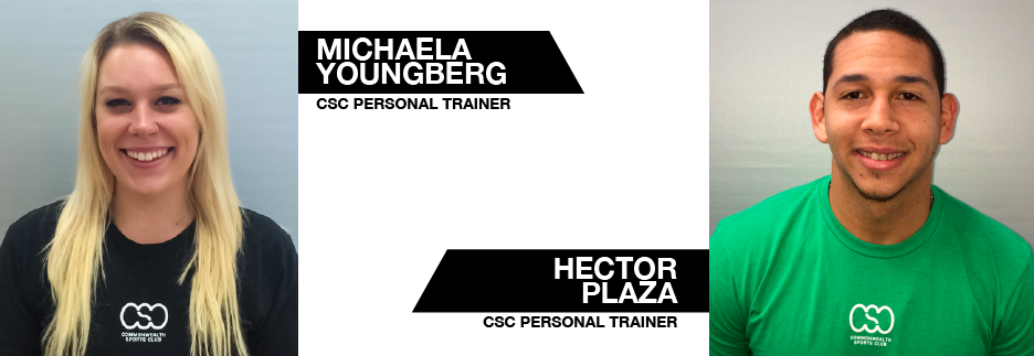 Personal Trainers Michaela Youngberg and Hector Plaza