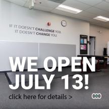 We open July 13